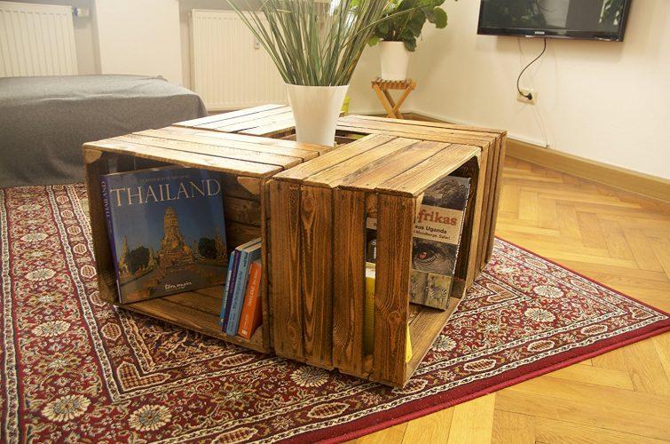 Fernsehschrank aus weinkisten  Weinkisten-Möbel: Ideen zum Selbermachen
