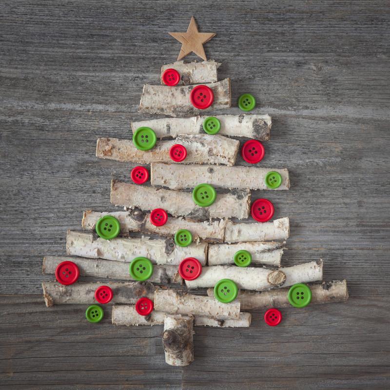 Alternativer weihnachtsbaum ideen f r dein wohnzimmer - Winterdeko basteln ...
