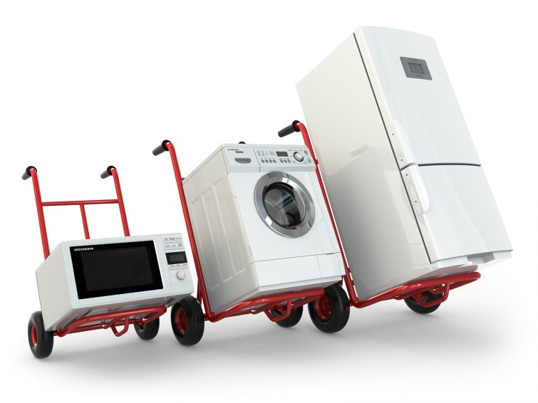 Elektrogeräte transportieren