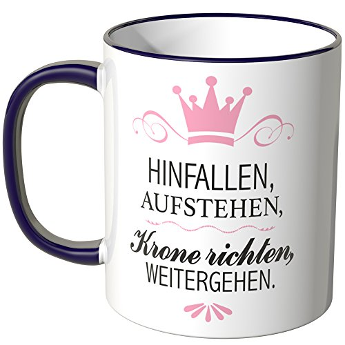 wandkings tasse mit spruch lila. Black Bedroom Furniture Sets. Home Design Ideas
