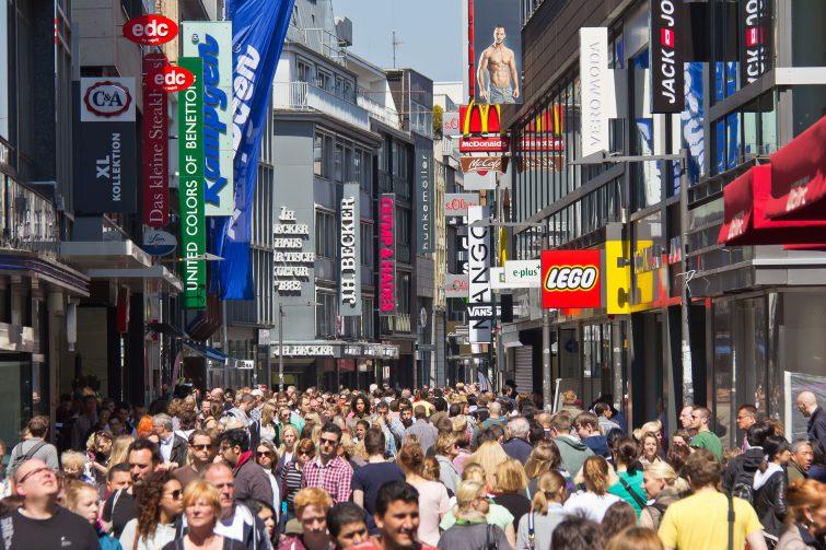 Fußgängerzone Hohe Straße