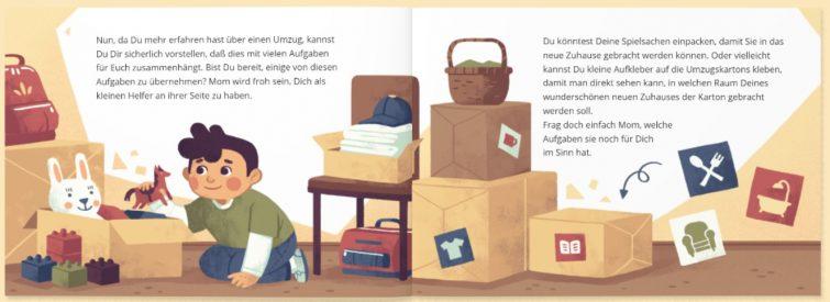 individualisiertes Kinderbuch zum Thema Umzug